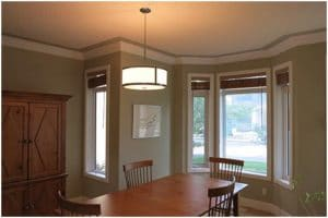 Calgary Painters | Interior dining room of house re-painted.