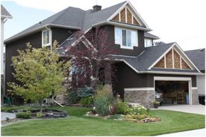 Calgary Painters | Exterior of house repainted.
