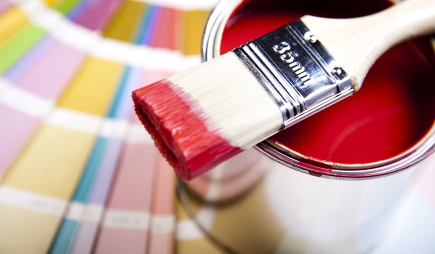 Paint can & brush